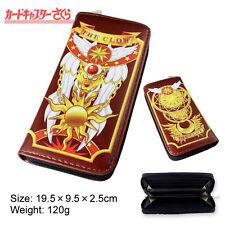 Anime Card Captor Sakura The Clow Long Zip Wallet Purse Coin Bag Cosplay New