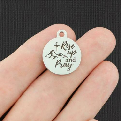 Rise Up and Pray BFS5031 Pray Stainless Steel Charm