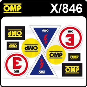 X-846-OMP-MOTORSPORT-ASSORTED-STICKER-SHEET-for-RACE-RALLY-10-DECALS