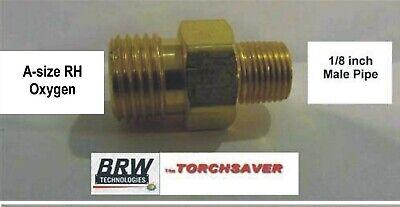 Mini Torch Fitting Western Fitting #33 B-size LH Fuel Gas x 1//4MNPT adapter B-29