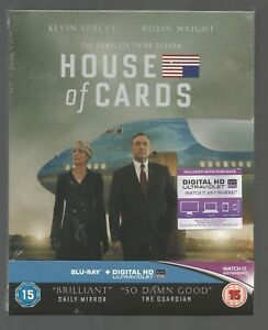 HOUSE-OF-CARDS-COMPLETE-SEASON-3-sealed-new-UK-BLU-RAY-SET-Kevin-Spacey