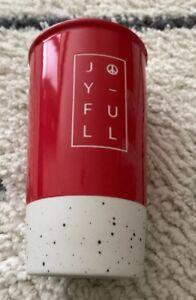 Starbucks-Red-Joyful-Ceramic-Tumbler-Travel-Mug-Cup-Limited-Edition