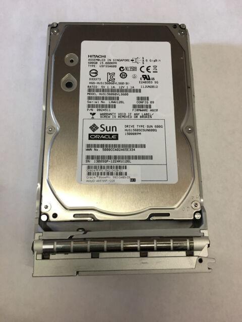 Tested Sun Oracle 600GB 15K SAS HDD 542-0428 390-0483 350-1386 Bracket