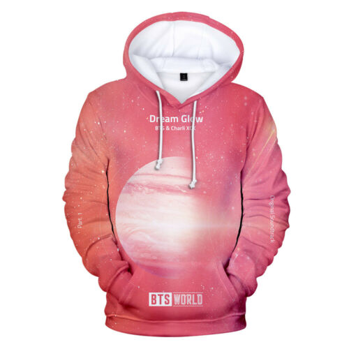 KPOP BTS WORLD-Lights 3D Hoodie Casual Sports Sweatshirt Pullover Coat XXS-4XL