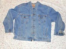 Levi Strauss signature jacket coat denim blue jean light distres med wash sz 2XL