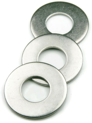 Stainless Steel Flat Washer 3//8 Qty 100