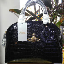 Genuine Vivienne Westwood New Chancery Black Eco Leather Medium Shoulder Bag
