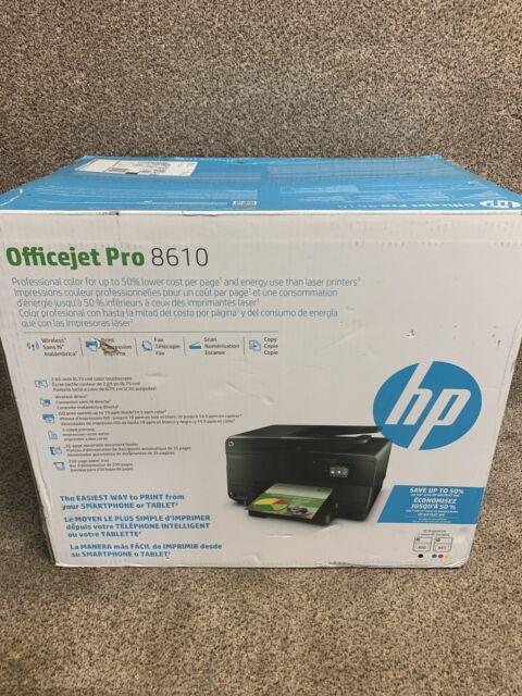 Brand New HP Officejet Pro 8610 Wireless All-In-One Color Inkjet  Printer w/ Ink