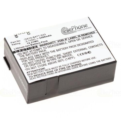 Batterie Li-Ion pour m3 Mobile Orange ox10 RFID remplace ox10-BATT-s33-3300 mAh