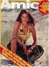 AMICA ANNO XIX N. 32 5 AGOSTO 1980 ITALIAN FASHION MAGAZINE MODA