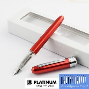 Platinum-Plaisir-Fountain-pen-Fine-Nib-Red-body-With-Box-PGB-1000-70-2-Japan