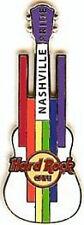 Hard Rock Cafe NASHVILLE 2012 GAY PRIDE PIN Guitar Rainbow Blocks LE 300! #67540