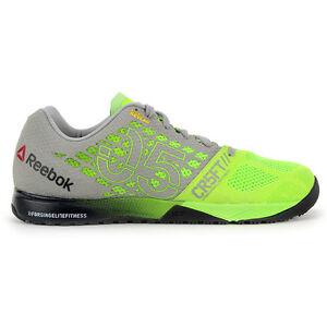 Reebok Men's CrossFit Nano 5.0 Solar Green/Tin Grey Training Shoes V72407 NEW!