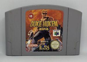 Nintendo 64 Duke Nukem 64, en muy buena condición probado N64 pal (solo carro) Gratis P + P 1st Clase