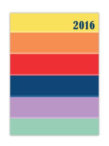 Diese Woche Anzeigen Große Reichhweite von Bunt Themen 2016 A6 Tagebuch
