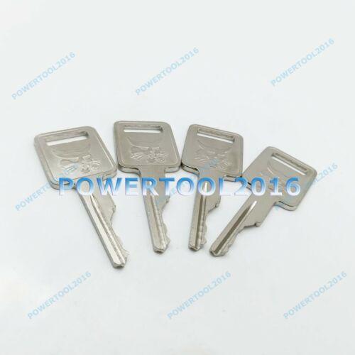 4 x A77313 Ignition Key D250 for Case IH Bobcat Vermeer JLG Ingersol-Rand Terex