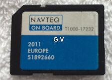 NAVTEQ T1000-17232 SAT NAV SD CARD 2011 UK EUROPE MAPS FREE POST 51892660