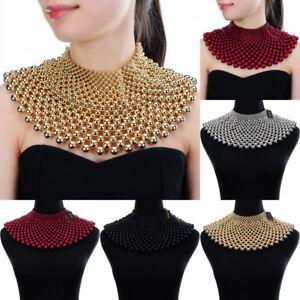Fashion-Jewelry-Chain-CCB-Resin-Beads-Charm-Choker-Chunky-Statement-Bib-Necklace
