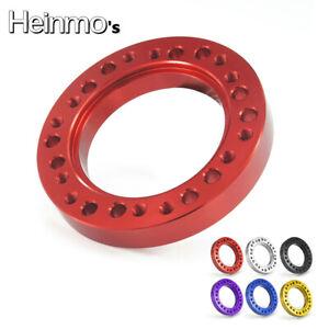 Red Heinmo 12mm Car Steering Wheel Spacer Hub Adapter Kit Black For MOMO to NARDI PERSONAL