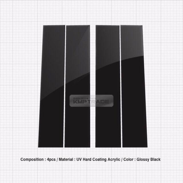 Glossy Black B Pillar Post UV Coating Cover 4Pcs For ForD 2004-14 F150 Crew Cab