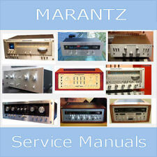 MARANTZ AMP RECEIVER TUNER VINTAGE REPAIR SERVICE MANUALS CUSTOM PDF DVD