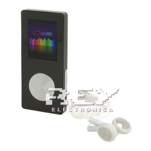 Reproductor MP4 Video Radio FM DE 8GB Media Player Negro Entrega 48//72h d276