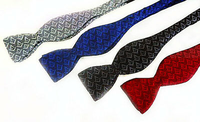 SELF TIE MASONIC BOW TIE 4 TONE on TONE COLORS TO CHOOSE FROM NEW SILK