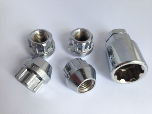 M12 x 1.5 90mm Stud Conversion Kit for Mercedes Inc Nuts Locks 20 Silver
