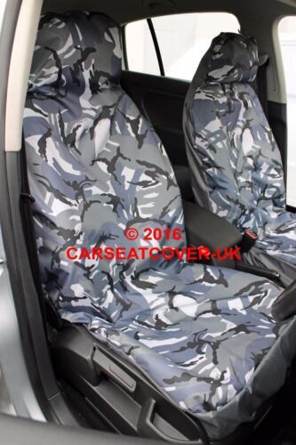 2004-07 Gris Camuflaje Impermeable cubiertas de asiento de coche 2 X frentes Smart Forfour