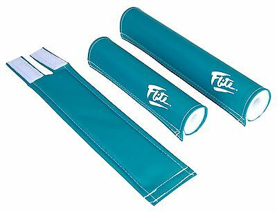 Flite old school BMX bicycle grip foam donuts TURQUOISE TEAL *MADE IN USA*