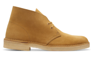 Clarks Mens Desert Boot - Oak Suede   eBay
