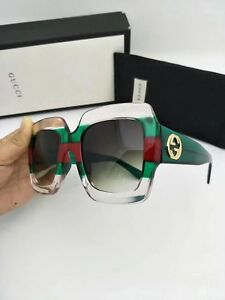 090dd9df780 New Authentic Gucci Sunglasses GG178S Women s Transparent Green ...