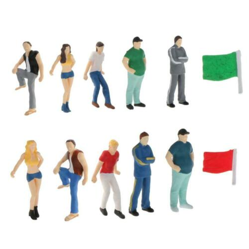 6pcs//set 1:64 Street Tiny Figures Character Toys DIY Building Layout Scenery