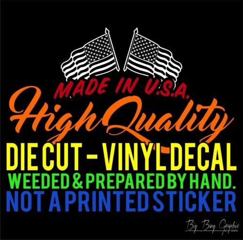 WHITE TRASH Vinyl Decal Sticker Diesel /'Merica Trucker Biker Funny Novelty Joke