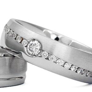 Silber-925-Trauringe-Eheringe-Verlobungsringe-mit-Gravur-und-Swarovski-Stein-D20