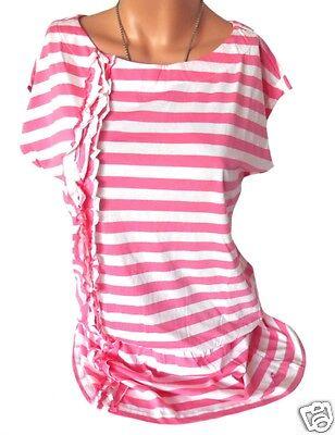 Maui Wowie Shirt Longshirt Streifen Ringel rosa weiß Gr. M 38 40 42 NEU -S186