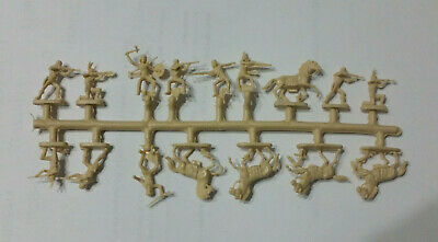 Soldatini figurini atlantic su sprue scala 1 72 HO Accampamento Indiano