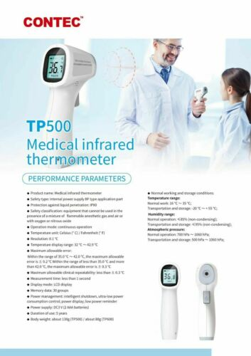 USA,CONTEC Forehead Thermometer Digital Termometro Non-Contact Laser Infrared IR