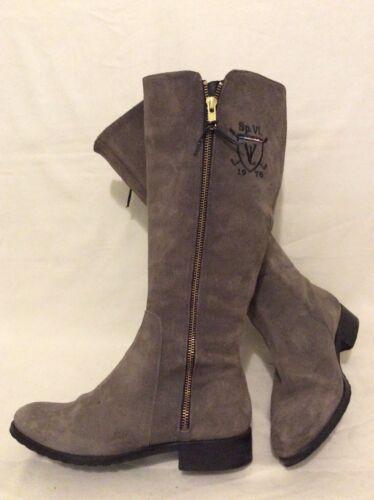 Knee High Love Suede Size Vitti 37 Boots Grey TwZEEq4