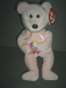 "TY Beanie Baby Bear-""Dear""-2004-Holding Flowers in Paws"
