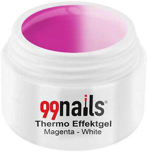 Thermo Effektgel Magenta-Weiß 5ml Thermogel Pink Thermo Gel Nagel Gel UV Gel