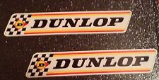 2 x DUNLOP CLASSIC BRITISH TOURING CAR MOTORSPORT STICKERS DECALS FREEPOST