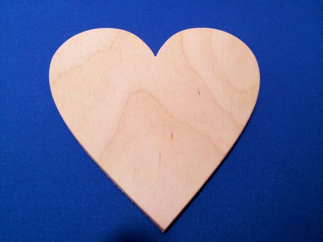 Heart Wooden Craft Shape Sizes & Quantities Available Love Valentines