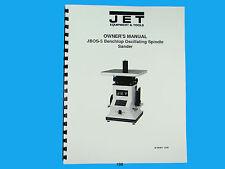 Jet Jbos 5 Benchtop Oscillating Spindle Sander Owners Manual 198