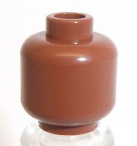 Lego brun rougeâtre plaine head x 1 pour minifigure  </span>