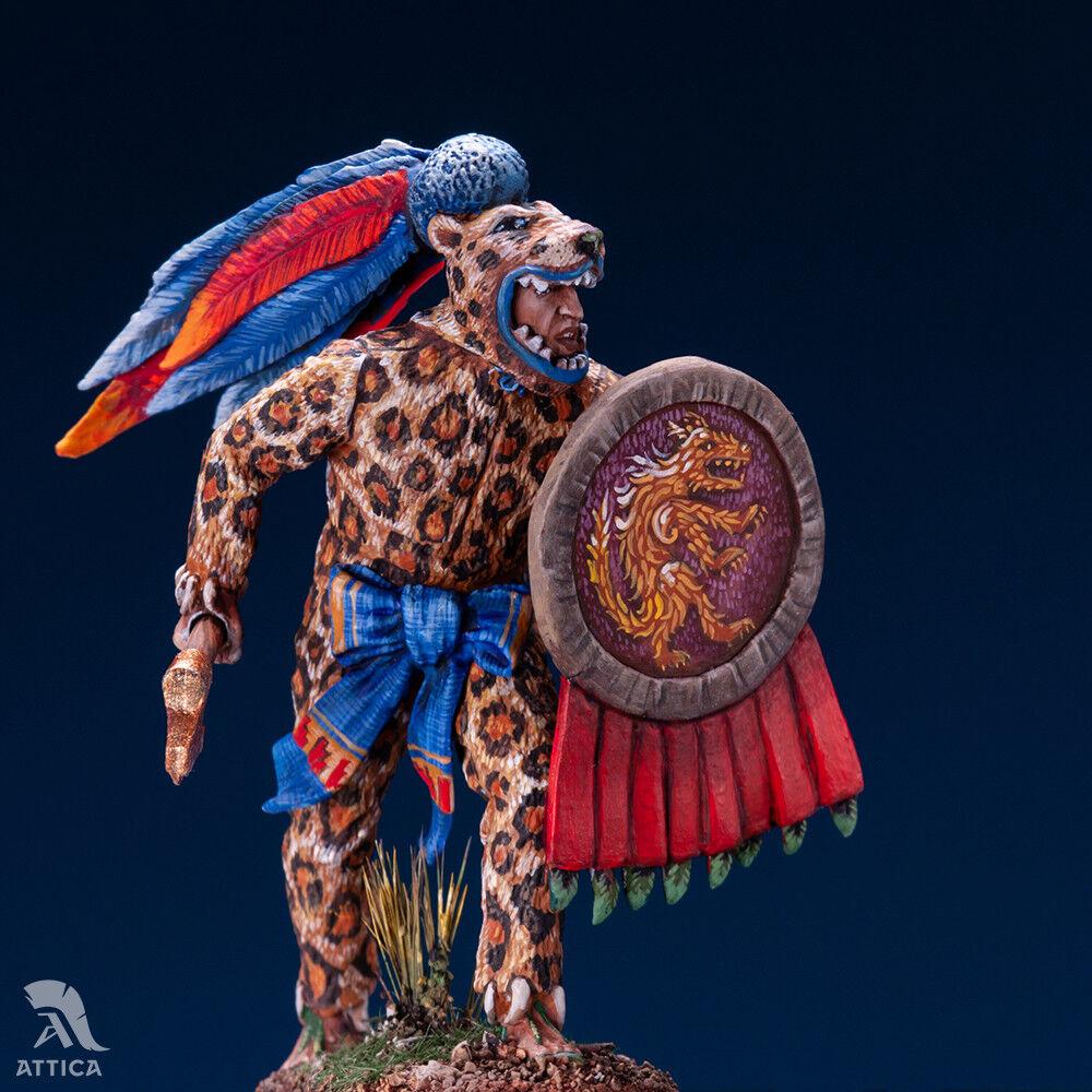 Aztec Jaguar Warrior 54mm 1/32 Tin Toy Soldier Miniature | Art Quality