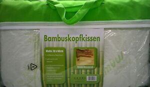 Bambuskissen Kopfkissen Nackenstützkissen Orthopädisches Kissen 70x40 Geschenk