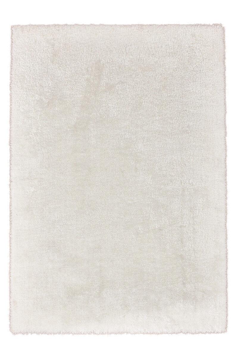 Tapis d'un épais Shaggy Douillet doux handgetuftet Uni Blanc 120x170cm