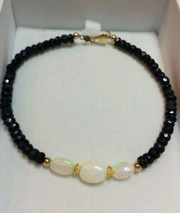 Ethiopian-fire-opal-6mm-oval-7cts-Sapphire-14k-gold-bracelet
