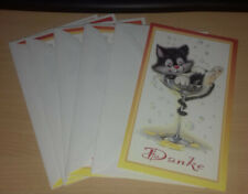 """Grußkarte mit Umschlag Doppelkarte Hund """"Junger Hund/"""" 9,5 x 18 cm Neu Tierkarte"""